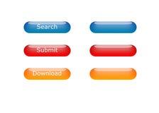 Divers aqua-boutons de couleur Images libres de droits