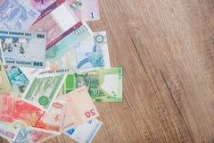 Divers argent des pays africains Images libres de droits
