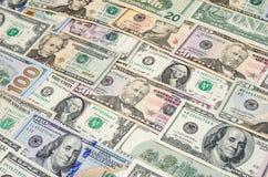 Divers billet de banque de dollar US Image libre de droits