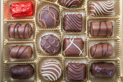 Divers bonbons au chocolat Image stock