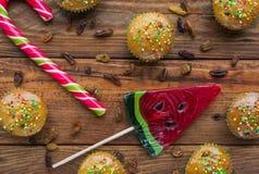 Divers bonbons colorés Photos libres de droits