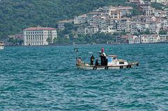 Divers in Bosphorus Stock Photography