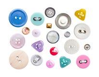 Divers boutons de couture Photographie stock libre de droits