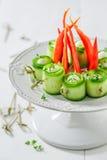 Divers casse-croûte froids sains avec les ingrédients frais pour le casse-croûte Photo libre de droits