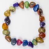 Divers cercle de gemmes et de cristaux Image libre de droits