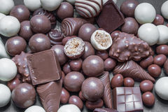Divers chocolats Images libres de droits