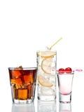 Cocktails et tirs image libre de droits