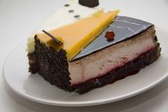 Divers de studioschot van cakestukken Royalty-vrije Stock Foto