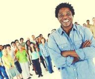 Divers de Variatieconcept van het menigte Communautair Behoren tot een bepaald ras stock afbeelding