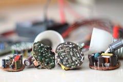 Divers dispositifs électriques, version 10 Images libres de droits