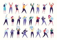 Divers employé Team Stand Together de geste illustration libre de droits