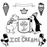Divers ensemble de crème glacée  Images stock