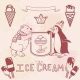 Divers ensemble de crème glacée  Images libres de droits