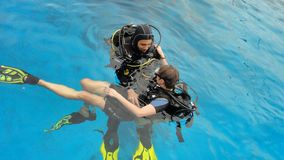 Divers in equipment Royalty Free Stock Image