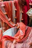 Divers filets de pêche rouges photographie stock libre de droits
