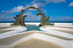 Divers fountain in Cozumel at Riviera Maya. Of Mexico royalty free stock photo