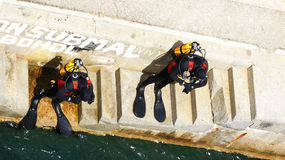 Divers or frogmen Stock Photo