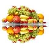 Divers fruit nog-leven stock afbeelding