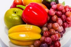 Divers fruits sur le fond/fruits blancs sur le fond blanc Photo libre de droits