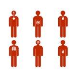 Divers genre de maladie sur des gens Image libre de droits