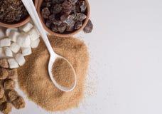 Divers genres de sucre image stock