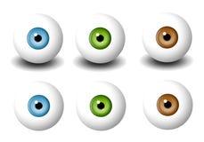 Divers globes oculaires simples Images libres de droits