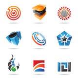 Divers graphismes abstraits colorés, positionnement 16 illustration libre de droits