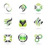 Divers graphismes abstraits verts, positionnement 9 illustration de vecteur