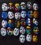 Divers het schilderen masker Stock Foto