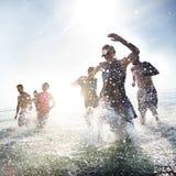 Divers het Strandconcept van de Jongerenpret royalty-vrije stock afbeelding