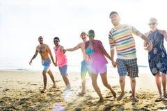 Divers het Strandconcept van de Jongerenpret royalty-vrije stock foto's