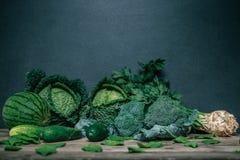 Divers légumes verts Images libres de droits