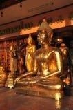 Divers laiton de groupe de Bouddha Photos libres de droits