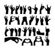 Divers mouvements et silhouettes de traces de doigt illustration libre de droits
