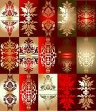 Divers ornement d'éléments d'or rouge Photo libre de droits