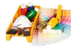 Divers outils de peinture Photographie stock libre de droits