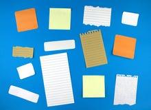 Divers papiers de note Image libre de droits