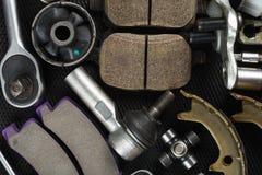 Divers pi?ces et outils de voiture photographie stock libre de droits