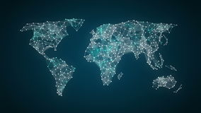 Divers pictogram van de Gezondheidszorgtechnologie verbindt globale wereldkaart, maakt de punten wereldkaart 2 royalty-vrije illustratie