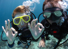 Divers royalty free stock photography