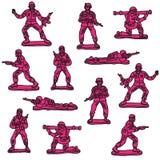 Soldats de jouet roses sans couture illustration libre de droits