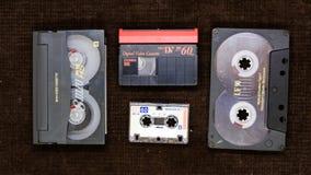 Divers supports magnétiques : bande magnétique, cassette sonore, bande vidéo, Images libres de droits