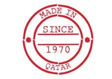 Divers tampon en caoutchouc fabriqué au Qatar Photographie stock
