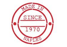 Divers tampon en caoutchouc fait à Naples Images stock