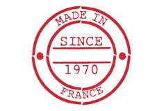 Divers tampon en caoutchouc fait dans les Frances Photographie stock