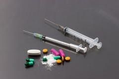Divers type de médecine Image stock