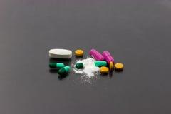 Divers type de médecine Photographie stock