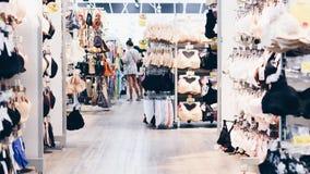 Divers type des femmes lingerie ou de boutique de sous-vêtements Photographie stock libre de droits