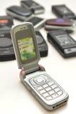 Divers type van cellphone Royalty-vrije Stock Foto