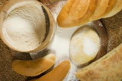 Divers types de boulangerie Image libre de droits